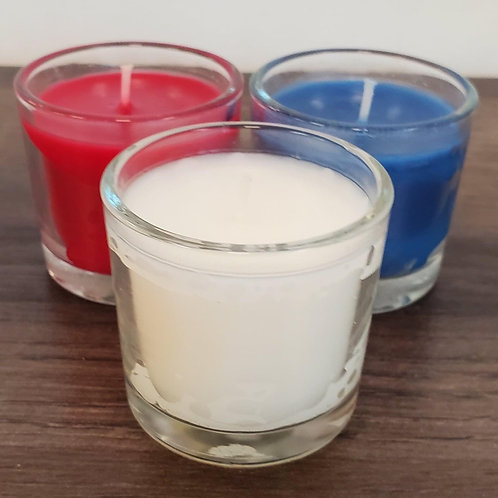 Red, White and Blue Votives