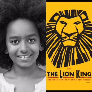 STELLA HARRIS ON TOUR WITH THE LION KING