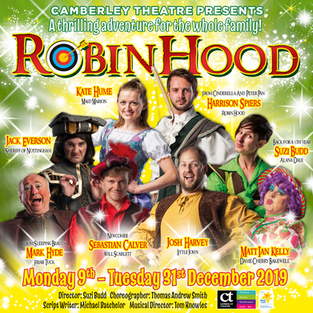 JAKE BAILEY IN 'Robin Hood' AT CAMBERLEY THEATRE