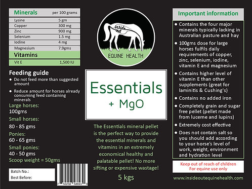 Essentials + MgO Mineral Pellets | 5 kilos