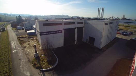 Heizkraftwerk für Industrielle Betriebe Murten.