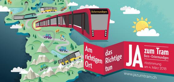 Kanton Bern: Abstimmung Tram Bern – Ostermundigen.