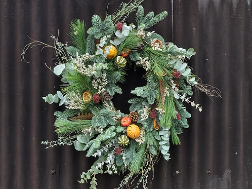 Medium Festive dried fruit wreath