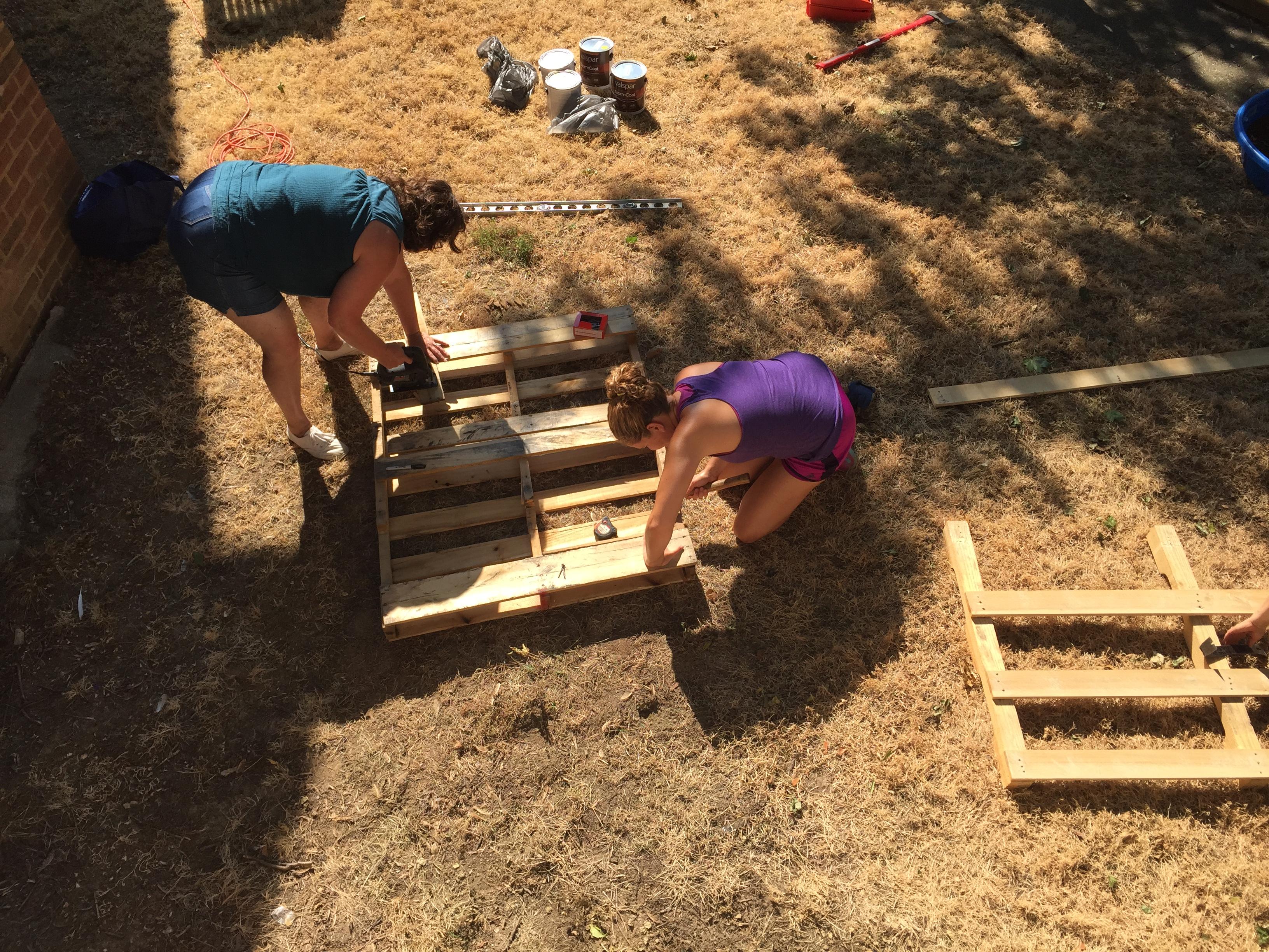 Terri & Beth pallets