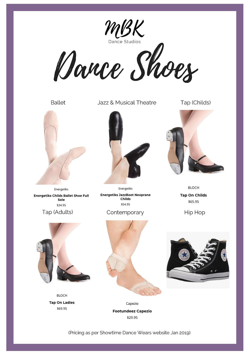 Dance Class Shoe Requirements
