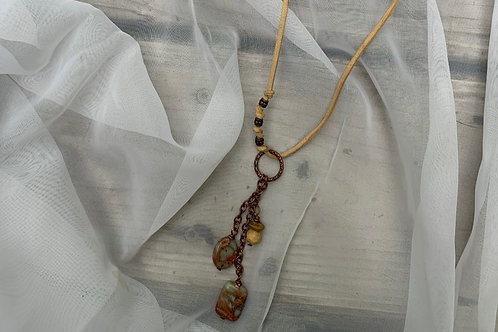 Balance & Center // Impression Jasper Necklace