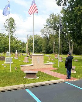 Soldier Salutes At Memorial (2).jpg