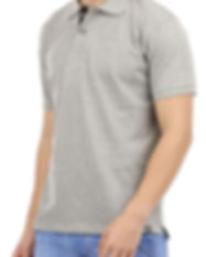 Solid grey polo tshirt men side.jpg