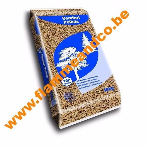 Confort pellet sac de 10Kg (80%feuillus-20%résineux)