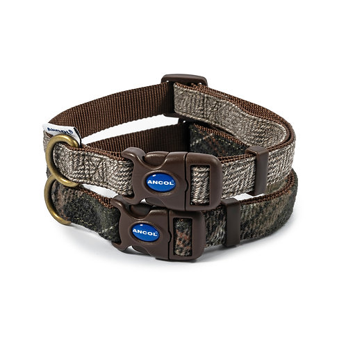 Herringbone or Country Check Adjustable Designer Collar