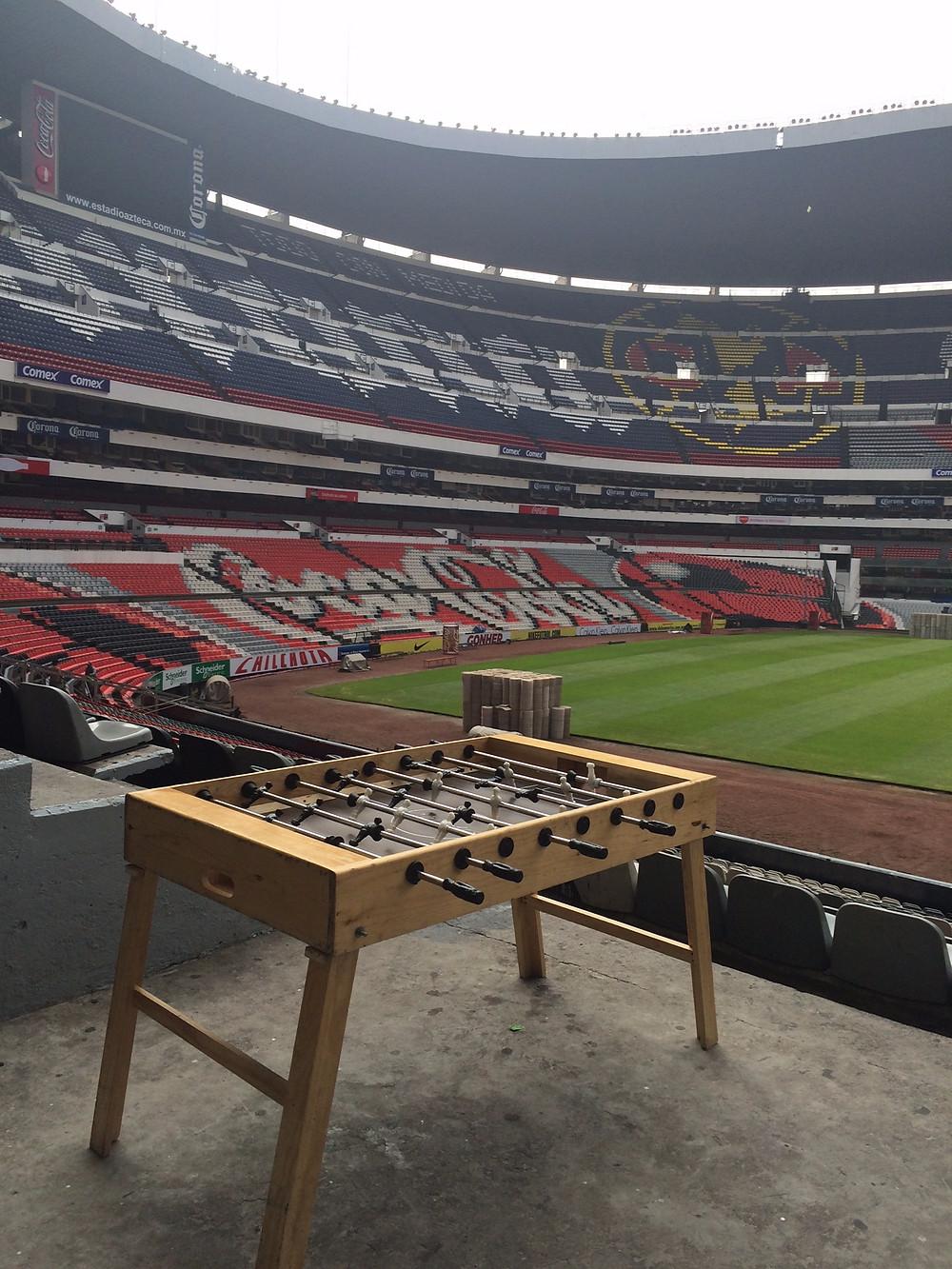 Renta de Futbolitos ® en el estadio Azteca