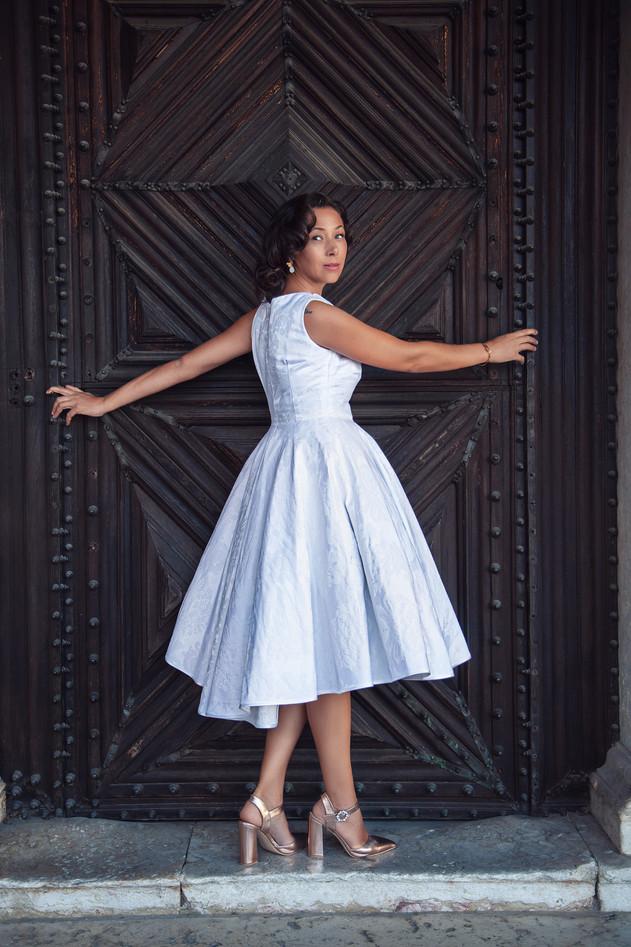 Vestido Noiva Anos 50