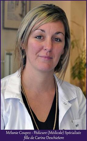 Mélanie Coupez, Pédicure médicale
