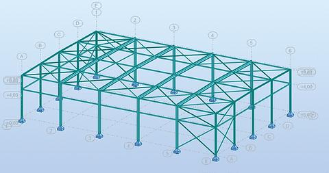 3D rekenmodel in RSA Professional - open halconstructie Ommegang, Brussel