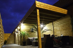 Tuinhuis en carport