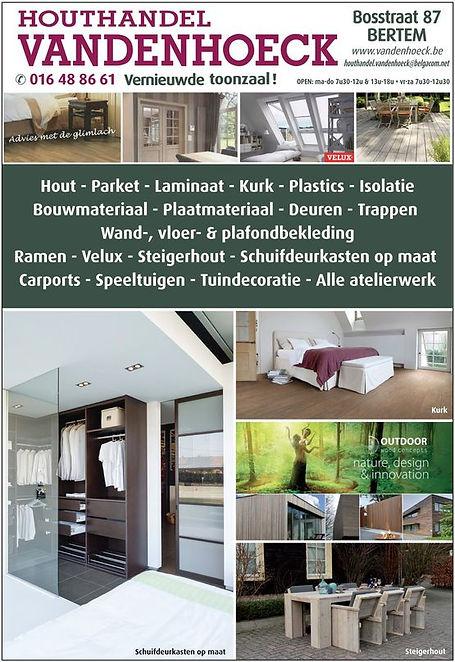Advertentie Houthandel Vandenhoeck Bertem
