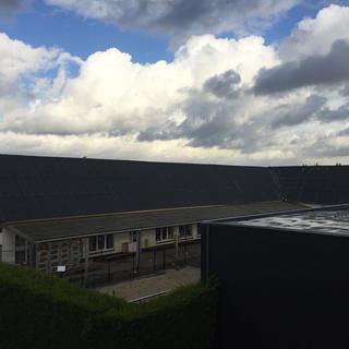 Verwijderen asbesthoudende platen en vervangen door nieuwe Eternit golfplaten - School tessenderlo