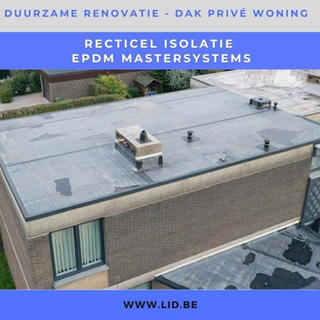Duurzame renovatie, dak privé woning
