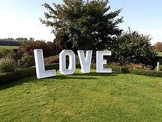 Liefde en lichtletters