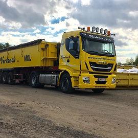 Grondwerken Verdonck containertransport zand en granulaten