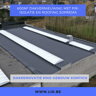 Dakrenovatie KMO-gebouw Kotich
