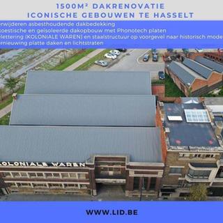 1500 m2 dakrenovatie, iconische gebouwen te Hasselt