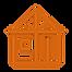 Icône stylisée présentant les cloisons d'une maison