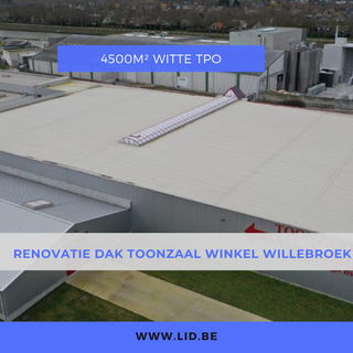 Renovatie dak toonzaal winkel Willebroek