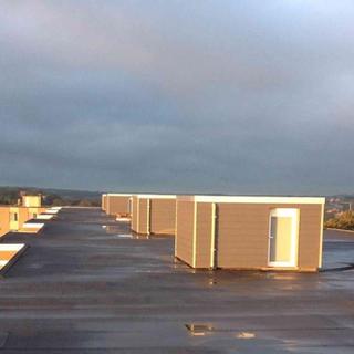 PIR-isolatie, roofing Sorema en sidings Eternit - appartementsgebouw Heverlee