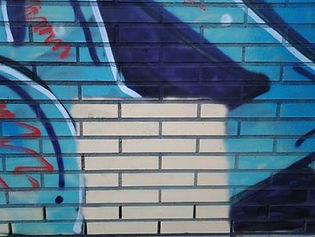 Aérogommage graffiti