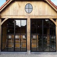 smeedijzeren - stalen deuren voor poolhouse
