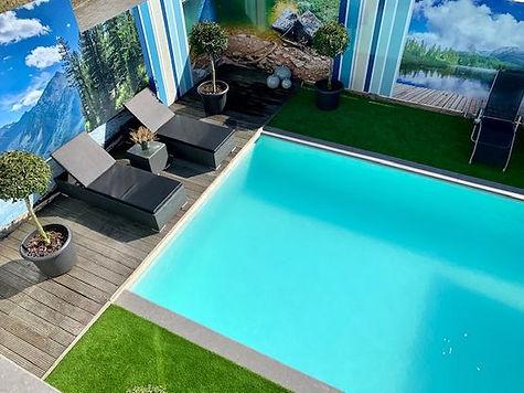 privé zwembad bij Sauna H2O