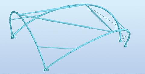 3D rekenmodel in RSA Professional - tentconstructie Tomorrowland