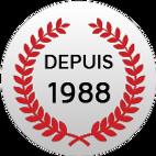 DEPUIS 1988