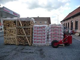 houtpellets en brandhout bij brandstoffen vantomme wervik, west-vlaanderen