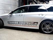 Autobelettering Standing Construct Geel