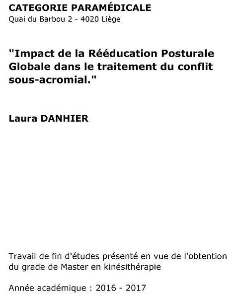 Impact de la Rééducation Posturale Globale dans le traitement du conflit sous-acromial