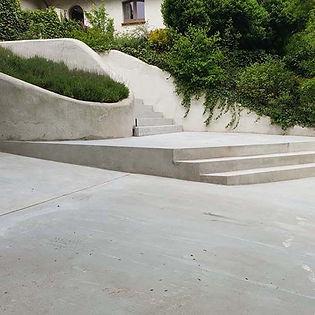 betonnen oprit