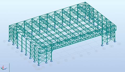 3D rekenmodel in RSA Professional - Almobé Industriebouw