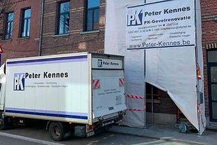 PK Gevelrenovatie werkwagen in Lint, Antwerpen