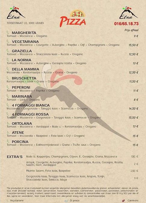 Etna menukaart 2021 deel 3