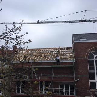 Nieuwe dakopbouw getimmerd BAC Atelier KU Leuven