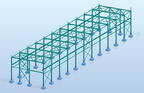 3D rekenmodel in RSA Professional - loods RVM
