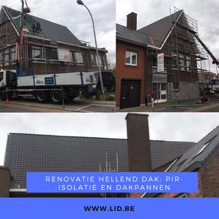 Renovatie hellend dak: PIR-isolatie en dakpannen