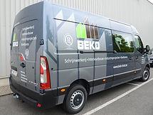 Belettering bestelwagen Beko Meerhout