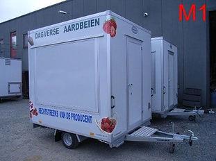Marktwagen te koop aardbeien