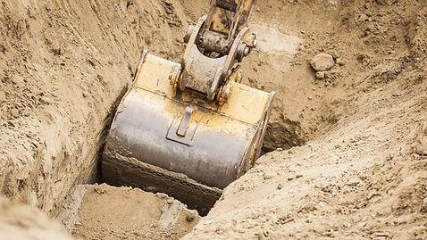 uitgraven zwembaden, vijvers, bouwputten en kelders