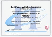 certificaat veiligheidssysteem VCA
