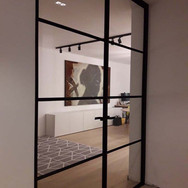 Dubbele stalen deur voor strak interieur