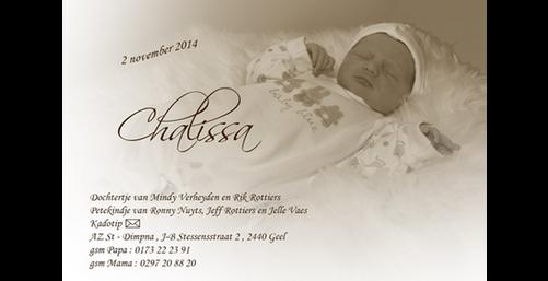 Grafisch ontwerp - Geboortekaartje